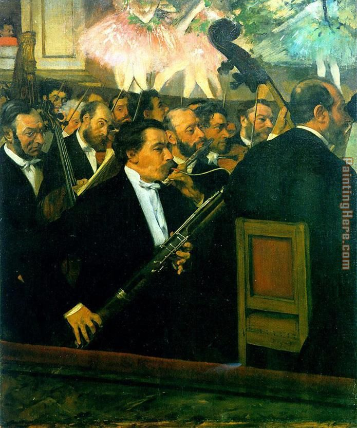 Edgar Degas The Orchestra of the Opera Art Painting